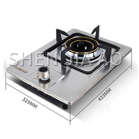 single burner dual use gas stove  natural gas cooktops liquefied gas stove  desktop fire concentrating stove stainless steel|Cooktops| |  -