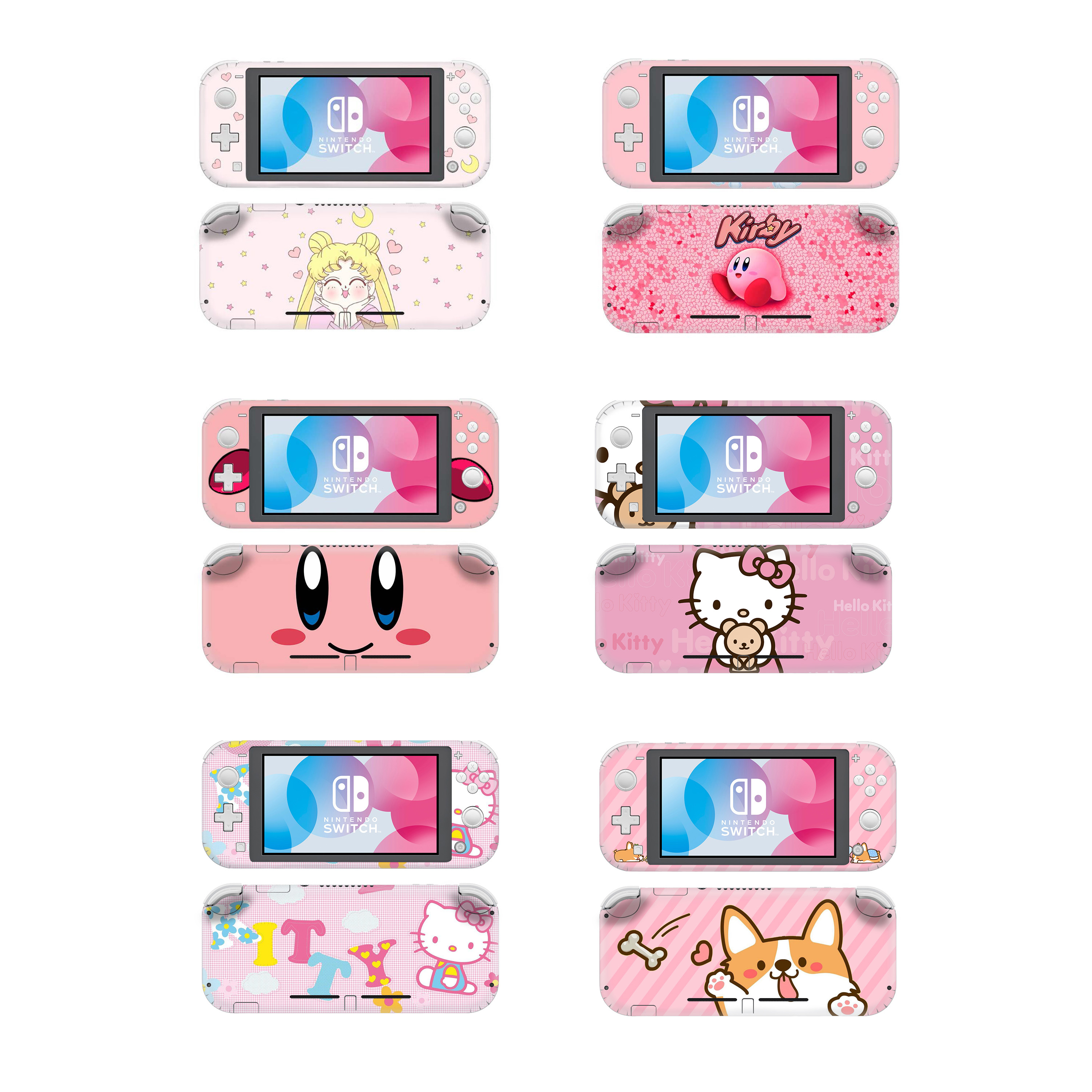 Animal Crossing Kirby Protective Screen Skin Protector Sticker For Nintendo Switch Lite NS Mini Console Hello Kitty Decal Case
