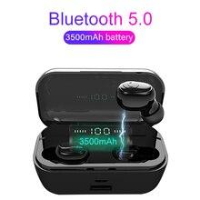 G6S TWS 5,0 Bluetooth 8D Stereo Kopfhörer Drahtlose Ohrhörer Wasserdicht Kopf handys 3500mAh LED Power Bank Telefon Halter