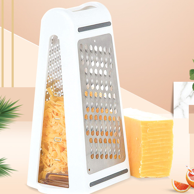 Multifunctional Rectangle Stainless Steel Cheese Grater,Chocolate Lemon Zester
