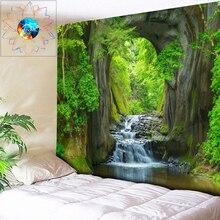 Hippie Tapestry Custom Multifunction Boho Mandala Wall Forest Waterfall River Hanging Dorm Decor