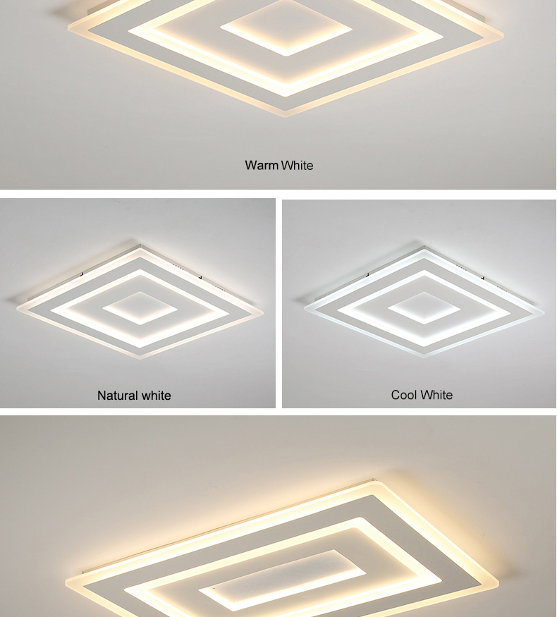 H67b2c548993b40318cda162dce269f1ey Surface Mounted Modern Led Ceiling Lights for living room bedroom Ultra-thin lamparas de techo Rectangle Ceiling lamp fixtures
