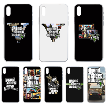 Gta 5 Grand Theft Auto V Phone Case cover For iphone 4 4S 5 5C 5S 6 6S PLUS 7 8 X XR XS 11 PRO SE 2020 MAX transparent image