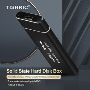 TISHRIC M.2 Hdd чехол для жесткого диска с NVME к Тип C жесткий диск чехол Поддержка 8 ТБ футляр для внешнего жесткого диска чехол Корпус для жесткого диска