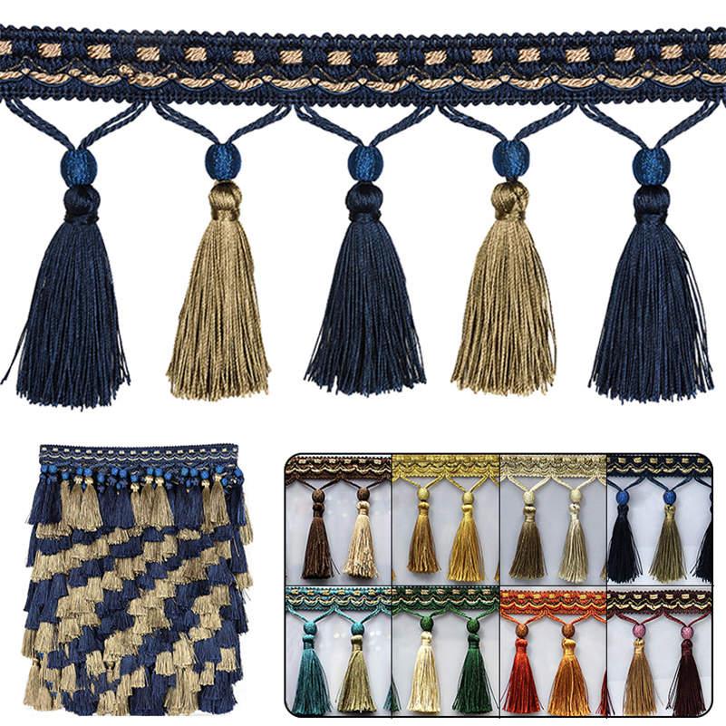 1 м кисточка бахрома отделка шитье ремесла Отделка Края шторы Подушка Диван Декор