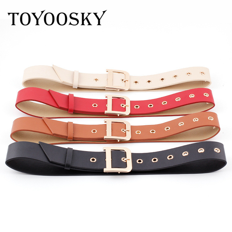 Luxury Metal Buckle Belt For Women Casual Belts Trendy Smooth Buckle Brand Women's Clothing Accessories Ladies Belts For Dress