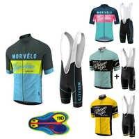 2019 neue Morvelo sommer radfahren kleidung radfahren kleidung kits kurzarm bib shorts herren sommer maillot ciclismo sets