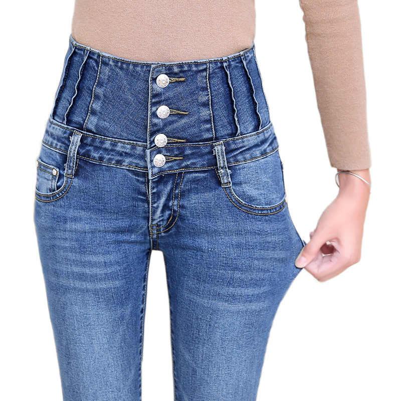 Pantalones Vaqueros Ajustados Rasgados De Cintura Alta Para Mujer De Talla Grande Gris Negro Mama Pantalones Vaqueros Elasticos Para Mujer Pantalones Vaqueros Mujer Pantalones Vaqueros Aliexpress