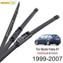 Balais d'essuie-glace Misima pour Skoda Fabia 6Y Hatchback Estate 1999 - 2007 fenêtre avant 2000 2001 2002 2003 2004 2005 2006