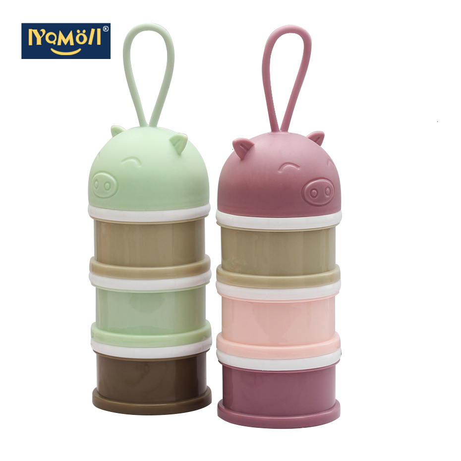 Travel Kids Baby Feeding3 Layers Milk Powder Dispenser Bottle Storage Container