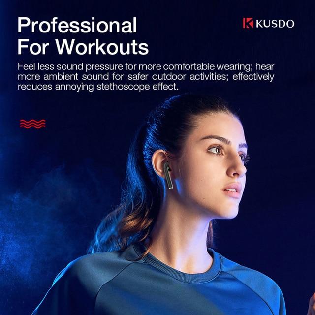 KUSDO TWS Wireless Headphones Led HiFi Stereo Earbuds Bluetooth Earphone Headset For Android iOS PK air 3 pro i9000 airpodding 2 3