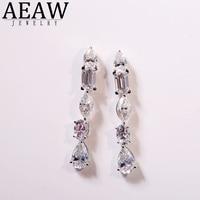 AEAW 18K White/Yellow/Rose Gold 5.2ctw Pear Cut Lad Diamond Ring Moissanite Earrings For Women For Girl Gife