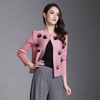 2020 New High Quality Pleated Women's Clothing Single Button Short Type Thin Jacket Fashion Female's Coat Vestido YG331