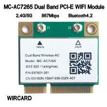 WIRCARD MC-AC7265 Двухдиапазонная мини PC-E WIFI карта для intel 7265AC 802.11ac 2x2 WiFi + Bluetooth BT4.2