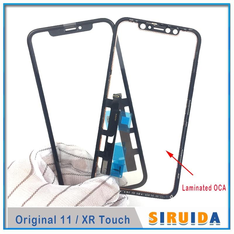 5 шт. 3 в 1 протестированное Оригинальное Сенсорное ЖК-стекло AAA с дигитайзером сенсорный датчик с рамкой + OCA клей для iPhone XR 11 Ремонт экрана