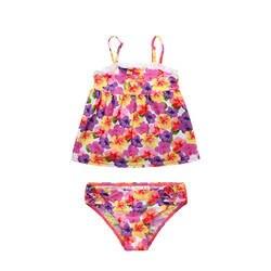 Новый стиль, милое детское фиолетовое бикини, Jinguoyiyi, цветочный принт, для девочек, анти-фиолетовый, раздельный, детский купальник