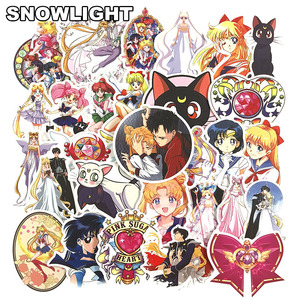10/30/50 pcs/set Anime Sailor Moon Sticker Cartoon Waterproof Stickers For Laptop Suitcase Bicycle Toy Sticker For Kids