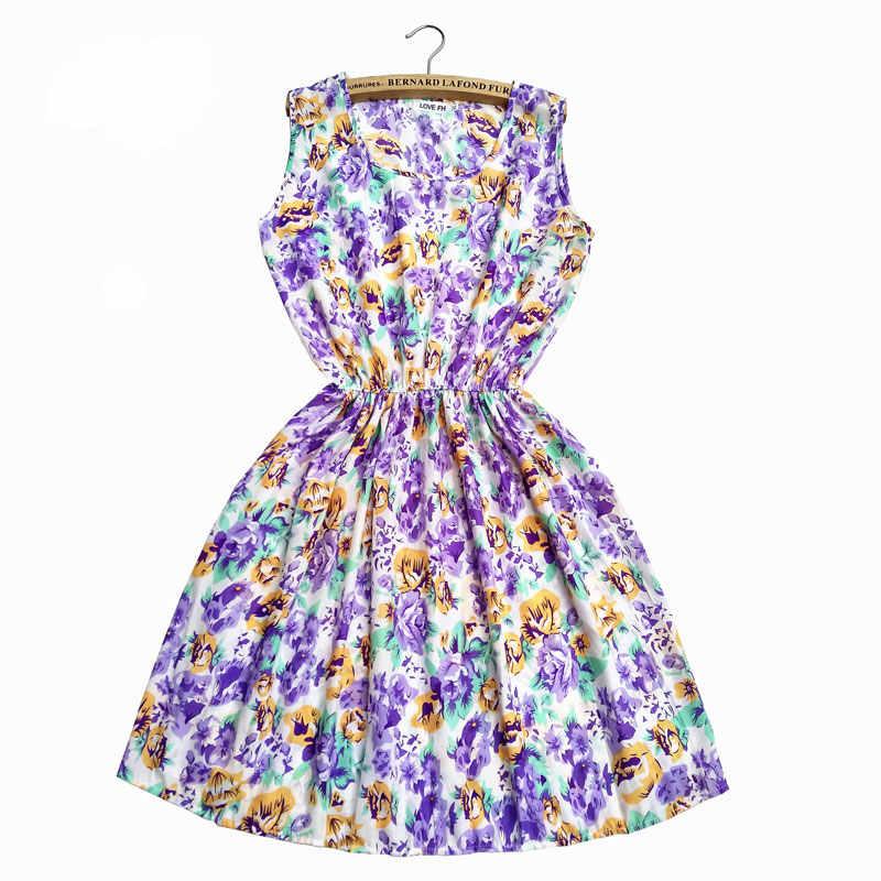 여름 2019 빈티지 섹시한 보헤미안 꽃 튜닉 비치 드레스 Sundress 포켓 화이트 드레스 스트라이프 여성 여성 Sukienki