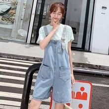 Летние свободные джинсовый сарафан комбинезон шорты для Для женщин XS размеры s m l xl