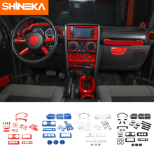 SHINEKA Car Stickers For Jeep Wrangler Car Interior Decoration Accessories For Jeep Wrangler JK 2007 2008 2009 2010 Car Styling
