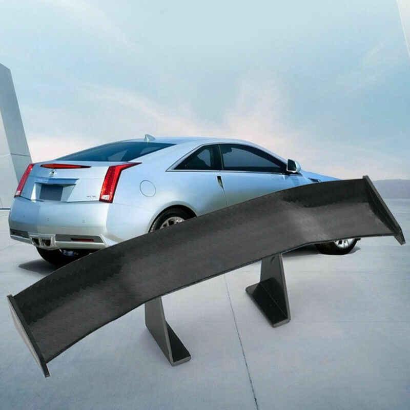 6.7 インチユニバーサルミニ炭素繊維パターン車尾翼自動車外装装飾アクセサリー
