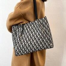Canvas Women Large Capacity Handbags Designer Letters Shoulder Crossbody Bags Ladies Travel Shopping Messenger Pack Bolsos Cubo