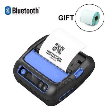58/80mm Portable Bluetooth Thermal Printer Mini Label Receipt Printer For Mobile Phone Windows adhsive sticker paper