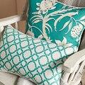 Наволочка для подушки с зеленым цветочным рисунком и лесными бабочками  современный модный чехол для дивана 45x45 см