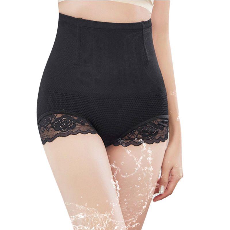 Corset femme taille haute dentelle brodée culotte ventre - 4
