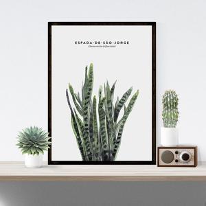 Image 5 - Elegantพืชสีเขียวพิมพ์สไตล์ภาพบ้านโรงแรมตกแต่งของขวัญ (ไม่มีกรอบ)