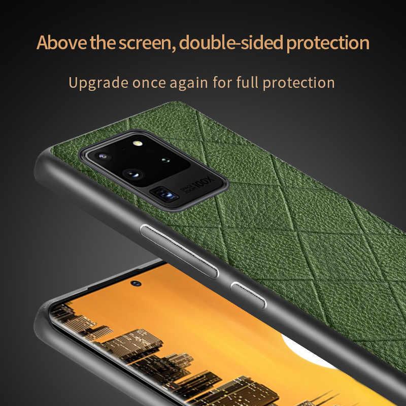 אמיתי מעוין תבואה עור טלפון מקרה לסמסונג גלקסי S20 Ultra הערה 10 8 9 בתוספת A50 A51 A70 A71 a40 S7 S8 S9 S10 S20 בתוספת S10 Lite S10E S8 S9 Plus S7 Edge Note 10 Plus 9 A50S A30S A20 A40 A30 A7 A8 2018