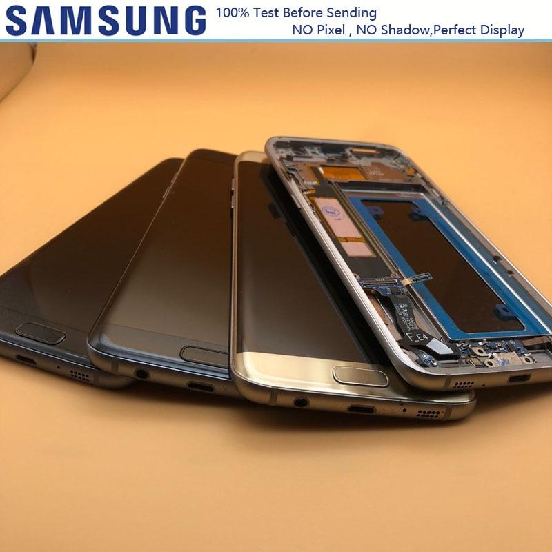 Sin pantalla LCD de 5,5 ''con marco para SAMSUNG Galaxy S7 edge G935 G935F G935FD MONTAJE DE digitalizador con pantalla táctil-in Teléfono Móvil LCD pantallas from Teléfonos celulares y telecomunicaciones on AliExpress - 11.11_Double 11_Singles' Day 1