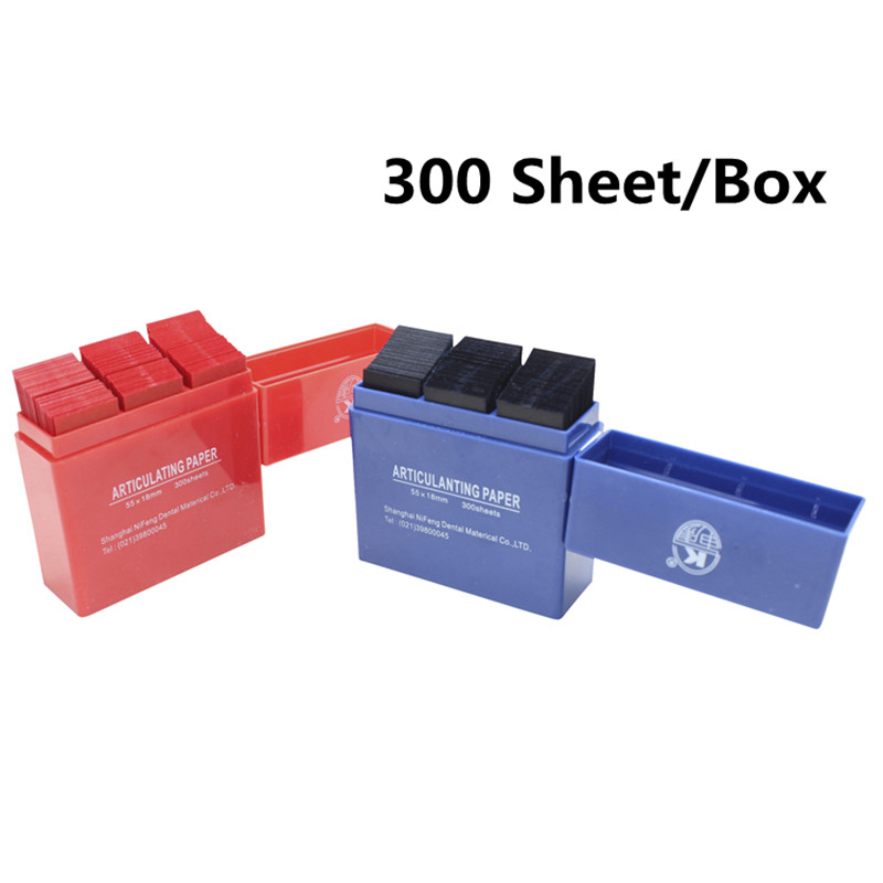 300 Sheet/Box Dental Articulating Paper Strips Red/Blue Dental Lab Instrument Teeth Whitening Dentist Tools 55*18m