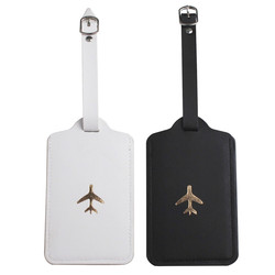 Zoukane Leather Suitcase Luggage Tag Label Bag Pendant Handbag Portable Travel Accessories Name ID Address Tags LT42