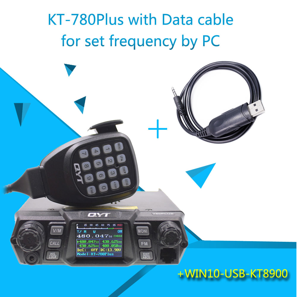 KT-780PLUS UHF400-480MHz High Power Output 100W Long Distance Car Mount Base QYT KT780+ Mobile Radio