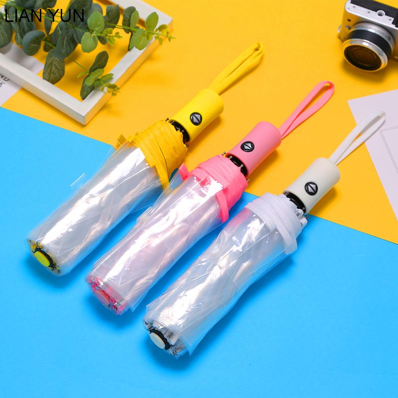 Automáticos, transparentes Paraguas lluvia mujeres Sombrilla Guarda Chuva Parapluie Ombrello Sombrilla Paraguas Plegable Mujer