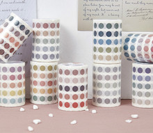 The Cute Color Tunes Creative Dotted Masking Tape 60mm*3m DIY Decoration Supplies 1 Piece