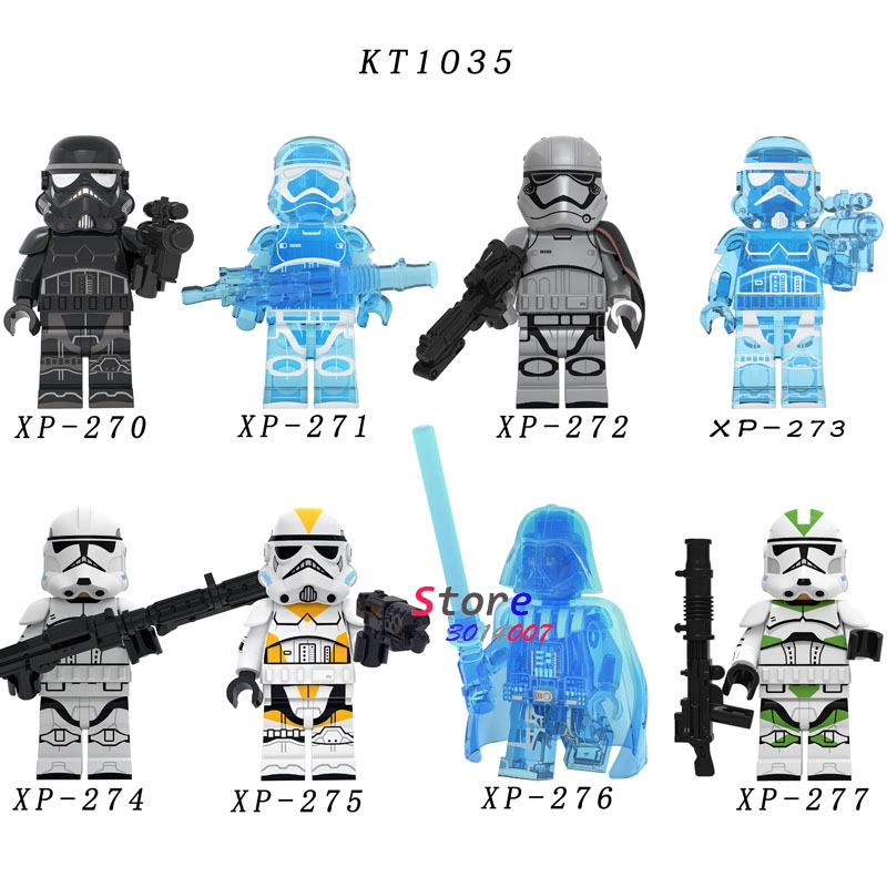Single Starwars Baby Yoda Darth Vader The Mandalorian KT1035 Sith Jet Trooper Jango Fett Building Blocks Model Bricks Toys