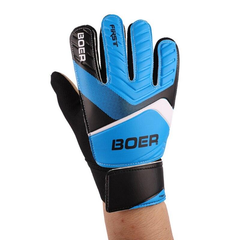 Goalkeeper Gloves Adult Outdoor Sports Football Soccer Goalkeeper Gloves Anti-Slip Goalie Gloves Size 8 9 10 Green Blue