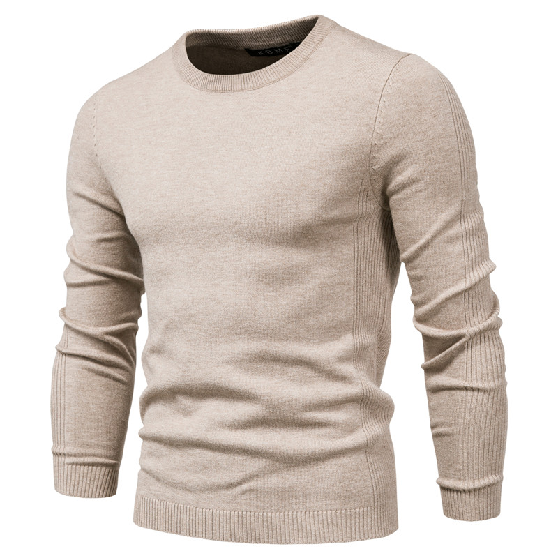 4XL Men 2020 Autumn New Casual Solid Thick wool Cotton Sweater Pullovers Men Outfit Fashion Slim Fit O-Neck pullover Sweater Men