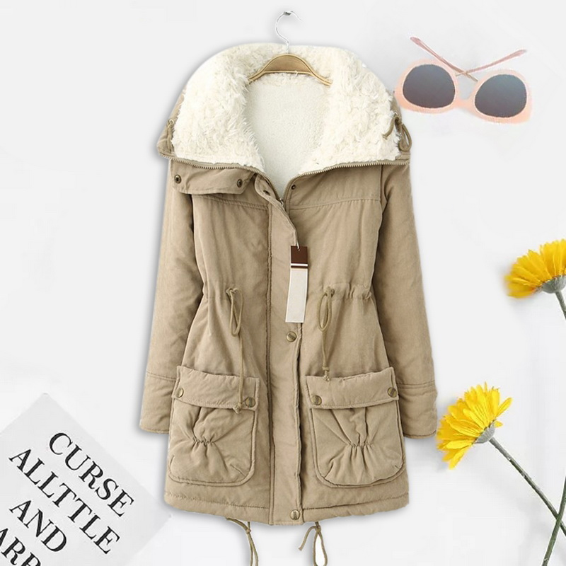 OEAK Winter Coat Women Fashion Brand Loose Outwear 2019 Femme Medium-long Wadded Jacket Padded Cotton Parka Mujer Plus Size