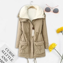 OEAK Winter Coat Women Fashion Brand Loose Outwear 2019 Femme Medium-long Wadded Jacket Padded Cotto