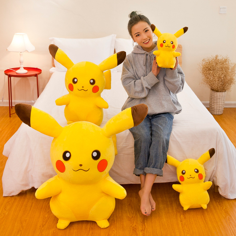 55cm Pikachu Movie Plush Doll Animal Plush Stuffed Pokemon pelucia Child birthday gift to appease the doll Cartoon toy figurine 6