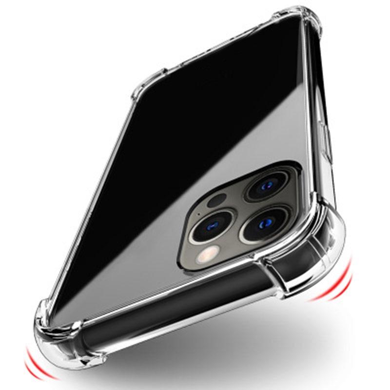Funda de teléfono a prueba de golpes para iPhone, carcasa trasera de silicona transparente de lujo para iPhone 12 11 X Xr Xs Max 12 11 Pro Max 8 7 6 Plus SE 2020