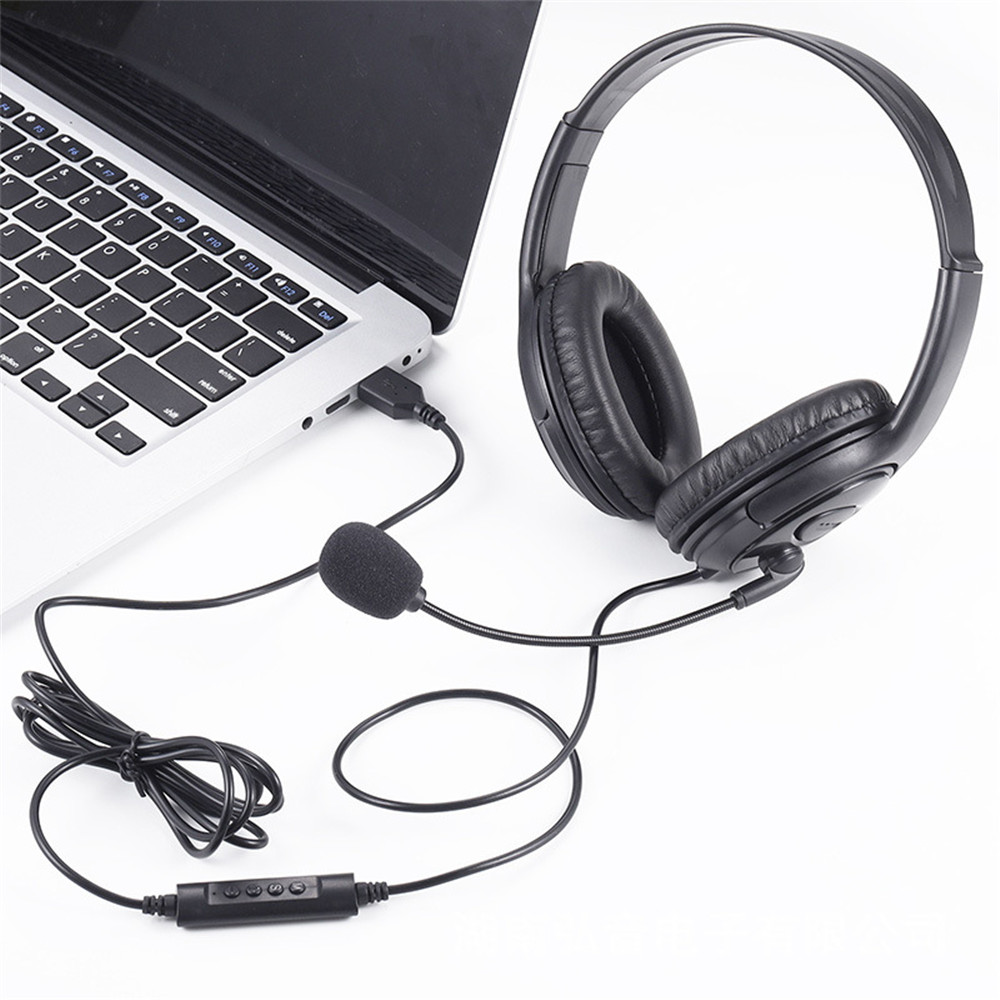 lowest price USB Gaming Headset Adjustable Wired Computer Headphones with Microphone Music Gamer Earphones for Laptop PC Skype Office