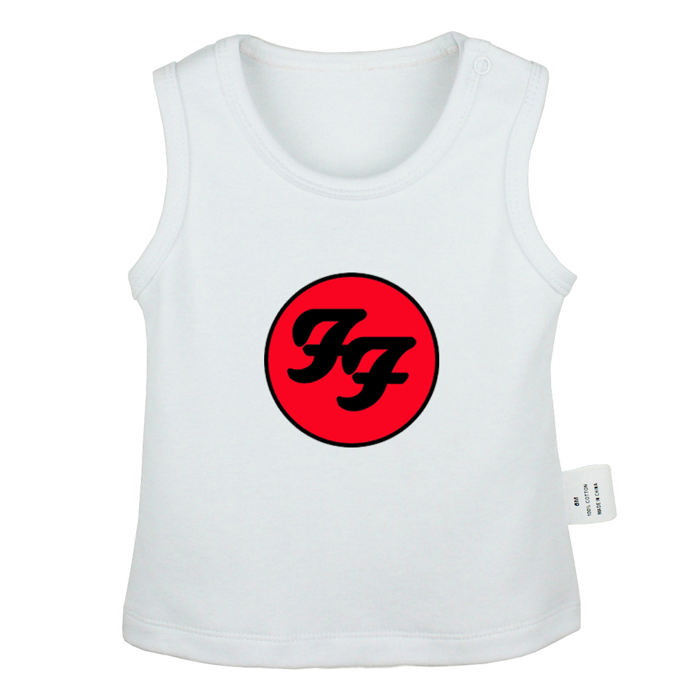 Foo Fighters Hard Rock And Roll Band Van Halen Band Design Newborn Baby Tank Tops Toddler Vest Sleeveless Infant Cotton Clothes image