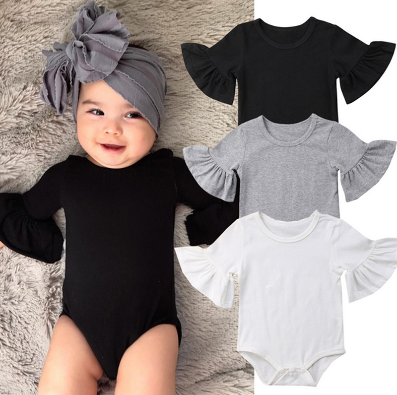Soft Baby Boy Girl Love Mom Dad Jersey Jumpsuit Baby Cotton Clothes Tights 0-18m