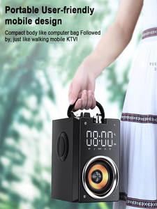 Stereo Subwoofer Column Center-Support Boombox Bluetooth-Speakers HIFI Fm Radio Music