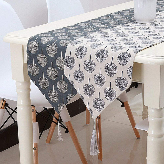 Tree Patterned Cotton Table Runner