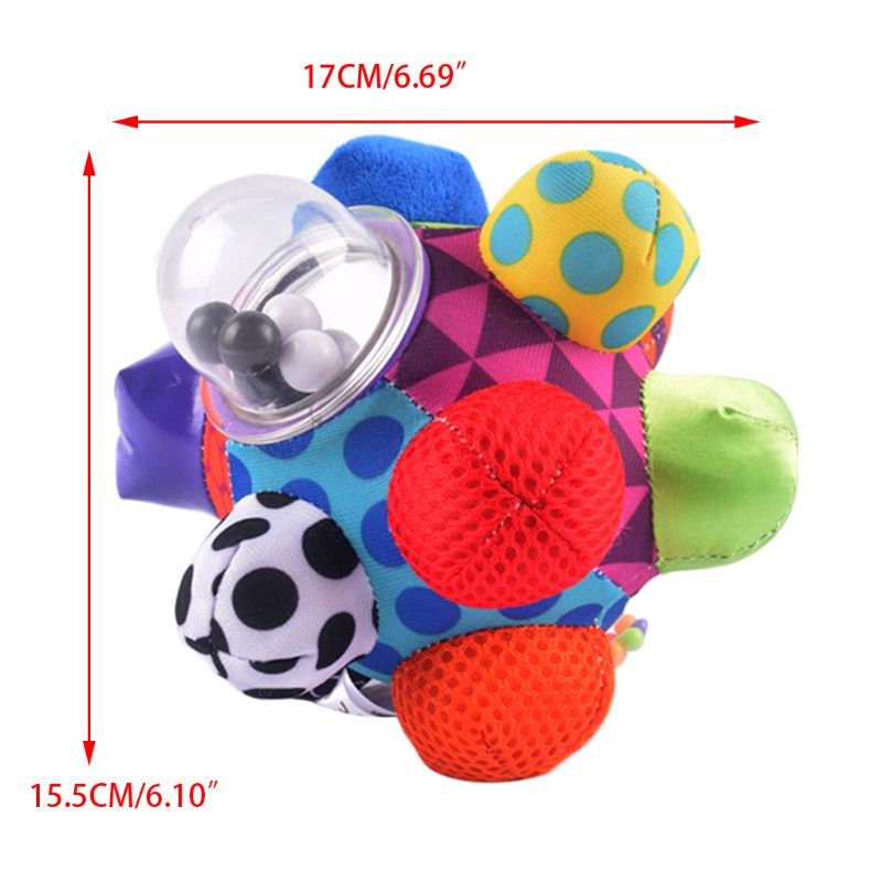 Babies Children Kids Boy Girl Colorful Bumpy Rattle Ball Learning Developmental Toy Gift